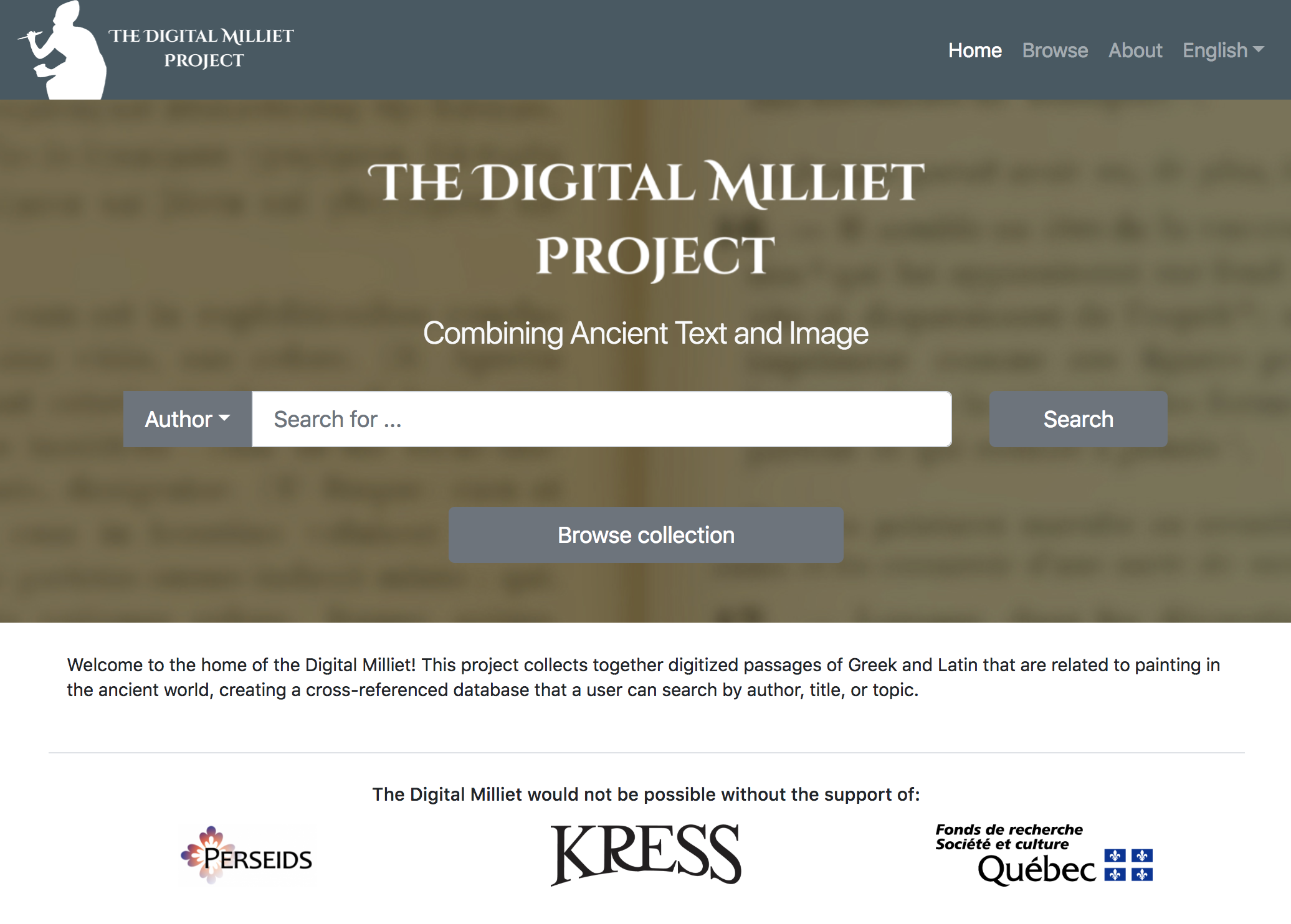 screenshot of Digital Milliet